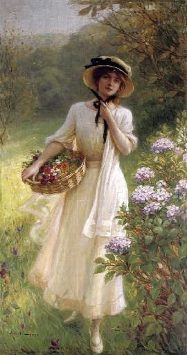 ⊰ Posing with Posies ⊱ paintings of women and flowers - Albert Lynch ( 1851 - 1912 )