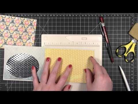 Video by Kristina doing an Embossed Window card for Simon Says stamp Summer School Series. June 2013