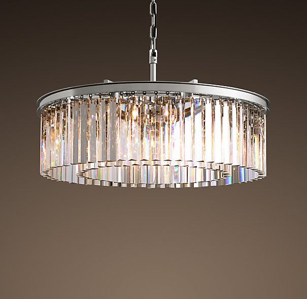 RHYS GLASS PRISM SMALL CHANDELIER POLISHED NICKEL 2995
