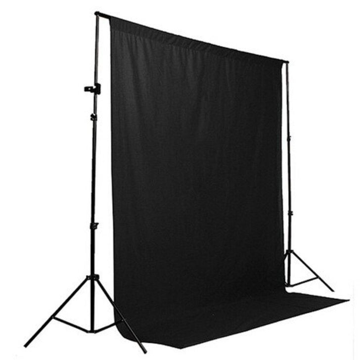 New Arrival Black 1.8m×2.7m Cotton Non-pollutant Textile Muslin Photo Backgrounds Studio Photography Screen Chromakey Backdrop - Brought to you by Avarsha.com