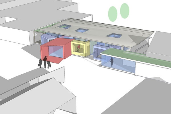 Shape Architecture London   Architects London, Contemporary Architects, Residential Architect    Wessex Primary School, a project that envolved building a new entryway and a connection between two separate buildings.