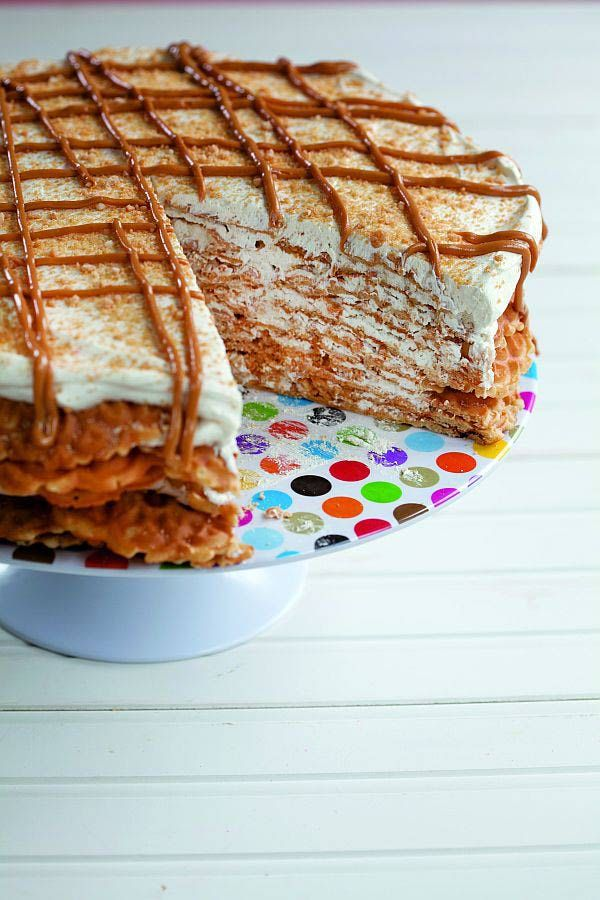 Kosher Peanut Butter Pizzelle Cake Recipe From Kids Cooking Made Easy By Leah Schapira & Victoria Dwek
