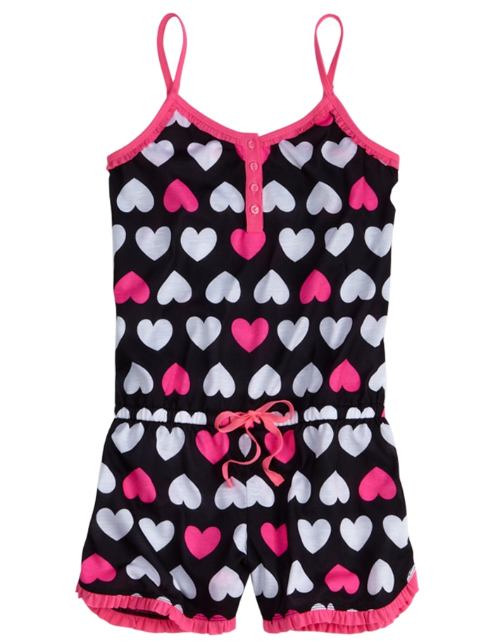 Girls Clothing | Rompers & Boxers | Heart Romper | Shop Justice