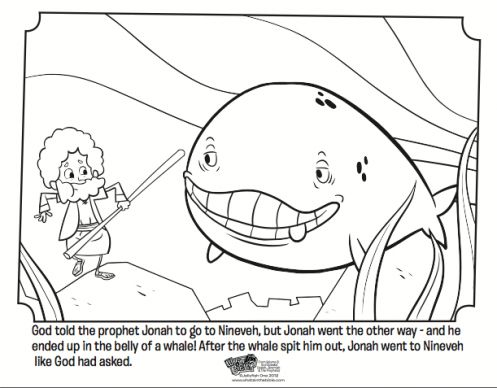 Jonah and the Whale Bible Coloring