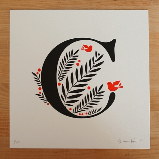Jessica Hische does the most beautiful work. #letterpress #alphabet