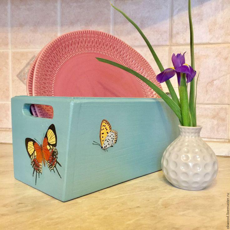 """Деревянный Ящик для женских секретиков """"Бабочки""""  Wooden box"""