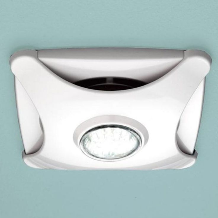 New Air Star Ceiling Extractor Fan White With Led Light Bathroom City For Bathroom Extractor Fan