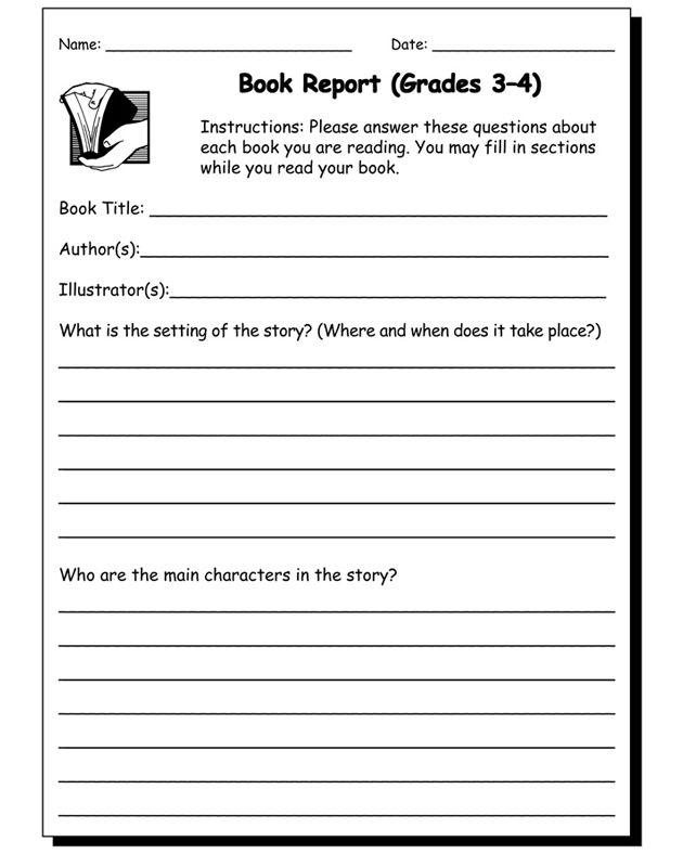 9 best homework images on Pinterest School, Books and Literature - school book report template