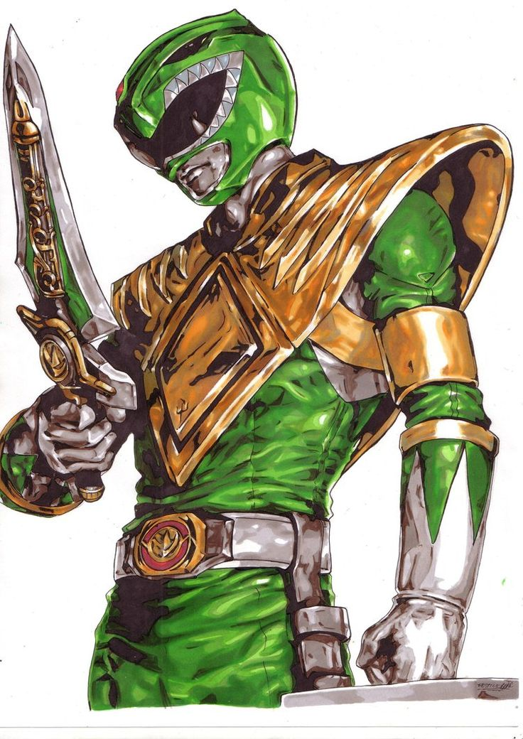 Green Ranger! If only I was that artistic.