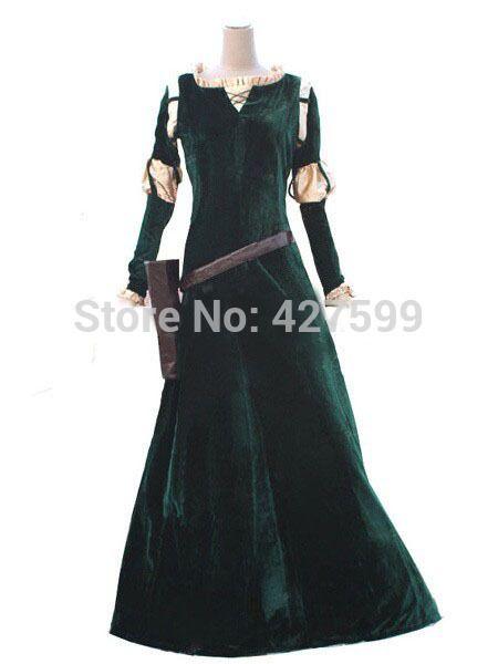 Free UPS Shipping Brave Princess Merida Dress Cosplay Costume Princess Costume Women's Dress on Aliexpress.com | Alibaba Group
