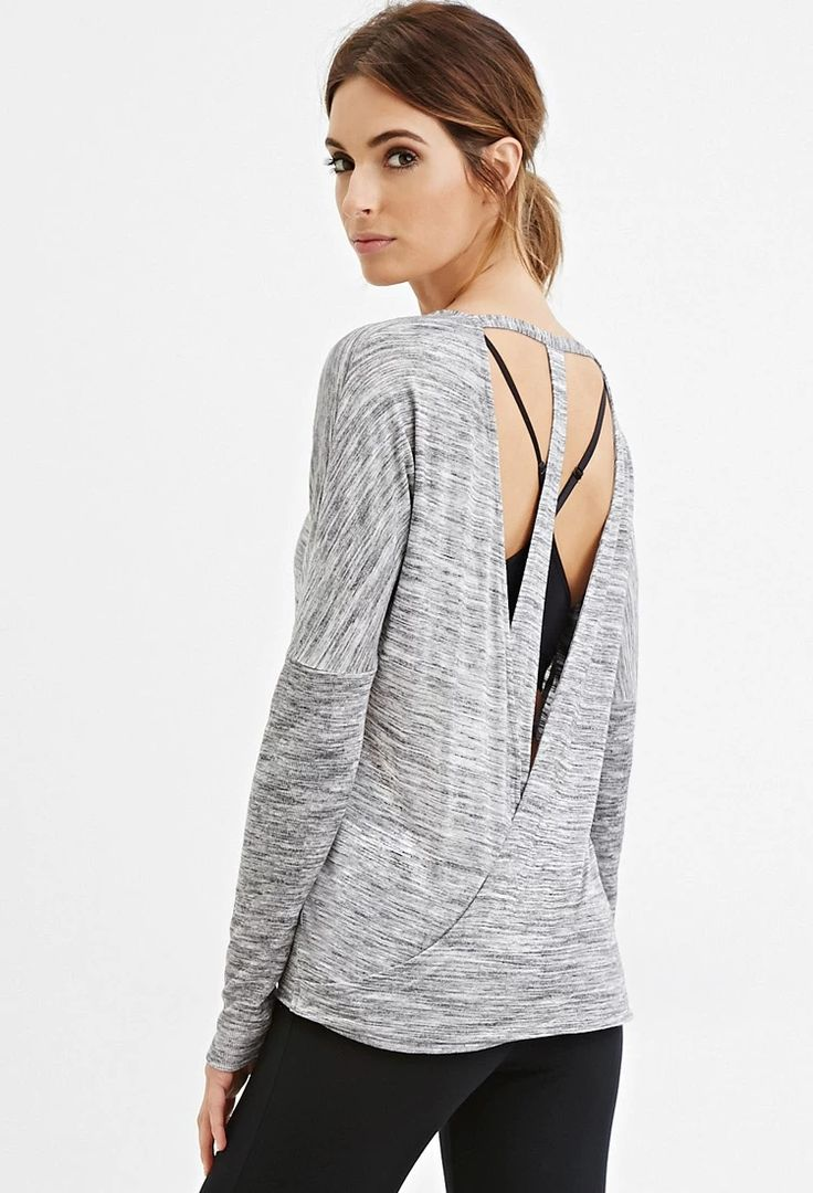 Active Open- Back Space Dye Top | Forever 21 #forever21active