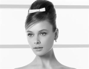 Recogido alto. Una novia más clásica podría elegir el modelo Audri.