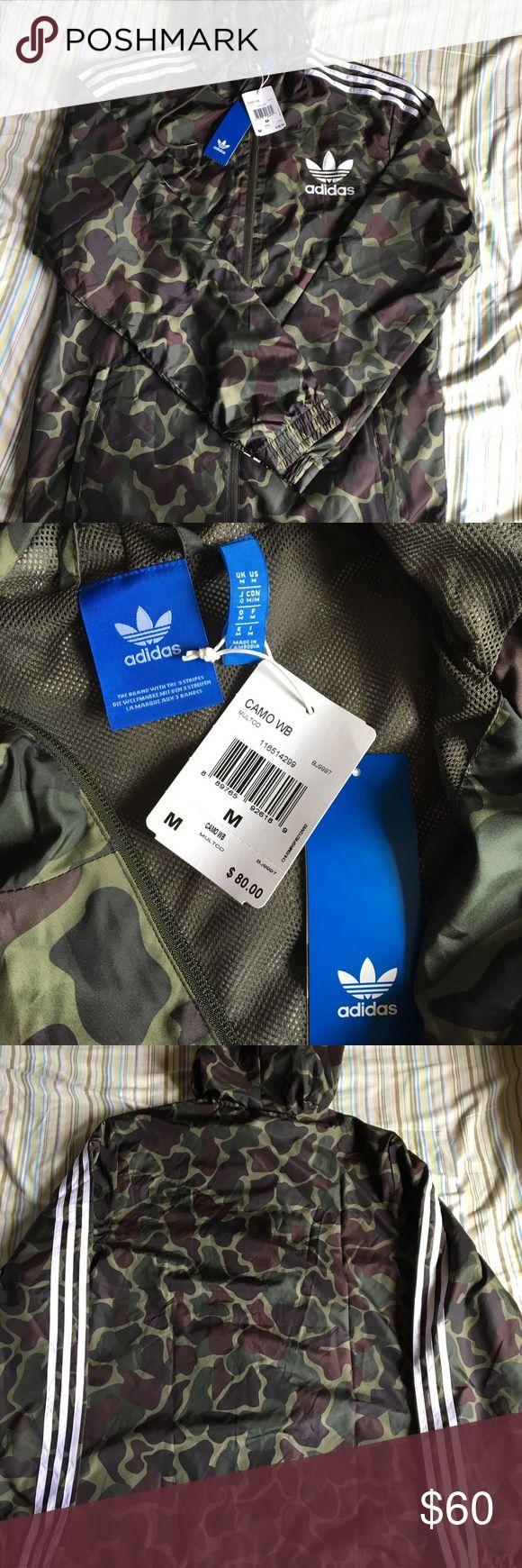 Adidas windbreaker Adidas camouflage windbreaker Adidas Jackets & Coats Windbreakers