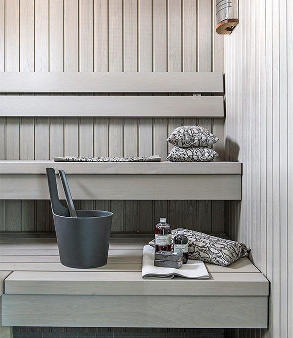 Grey sauna
