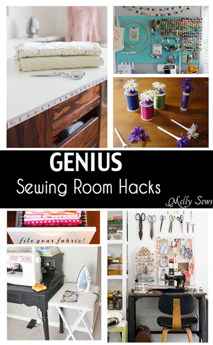 Whether your sewing space is an entire suite or a tiny corner, these hacks can help you make the most of it. Cutting Tables Glue a measuring tape to the edge of your cutting table – this is mine, and I use this all the time! I just hot glued it right on. Don't have room Read the Rest...
