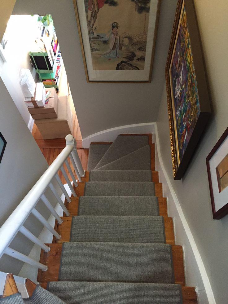Best Gray Wool Stair Runner Stair Runners With Pie Turns 400 x 300