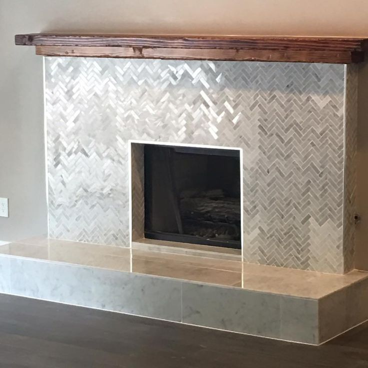 Fireplace reno by Tarek and Christina ElMoussa