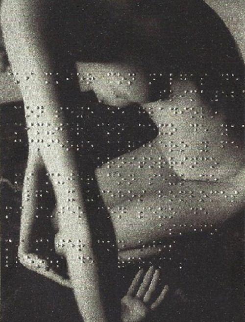 Léon Ferrari, Union Libre, 2004 (poem by André Breton embossed in Braille on a photograph).