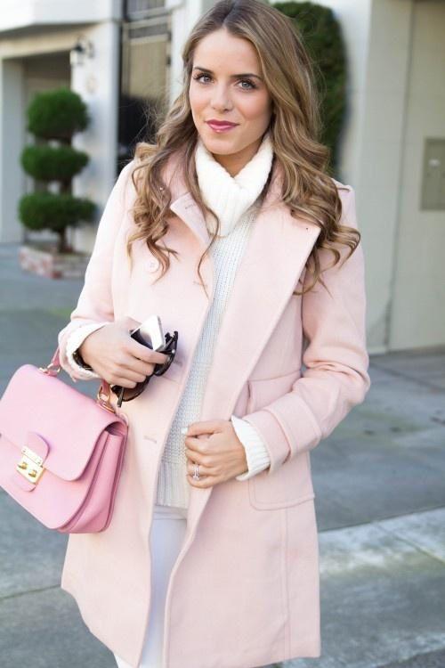 Julia Engel Gal Meets Glam Pale Pink Rose Quartz Coat