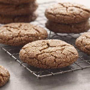 Giant #Molasses #Cookie Recipe from Taste of Home.  These cookies are mouth-watering and excellent!  The perfect spice cookie for fall, they are chewy with a crunchy sugar finish.  I found the recipe baking time to be nearly double what it should be--pull them out when you see the tops crack!