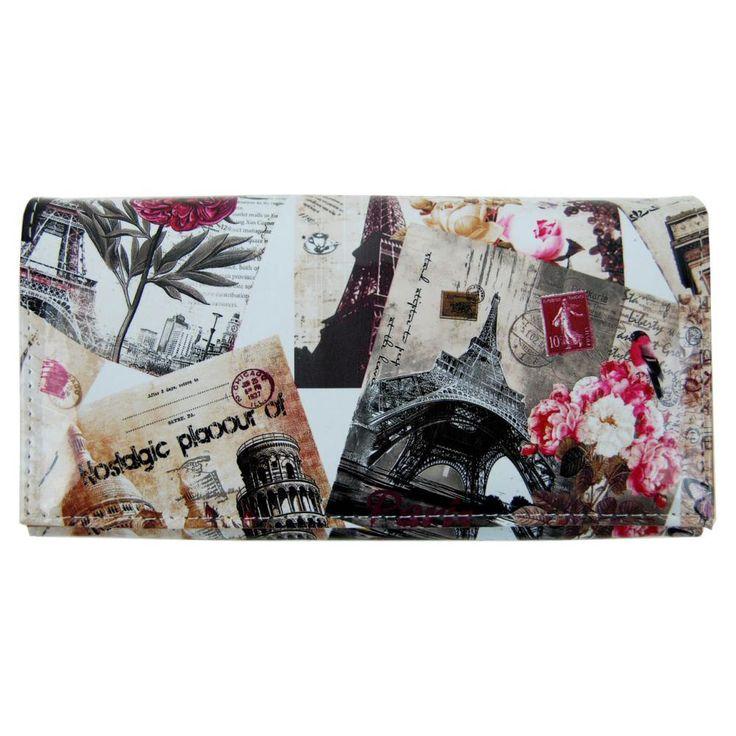 Dámská módní peněženka T312 hnědo-fialová