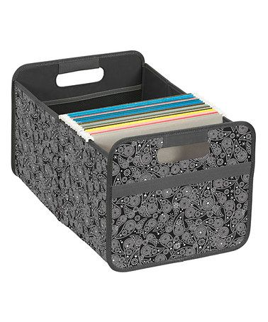 Love this Black Paisley Double-Wide Collapsible Storage Bin on #zulily! #zulilyfinds