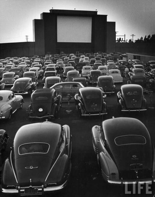 Drive-in cinema  | More vintage lusciousness here: http://mylusciouslife.com/photo-galleries/vintage-style-lovely-nods-to-the-past/