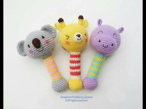 Tutorial Sonajero Amigurumi Ganchillo | Crochet - YouTube