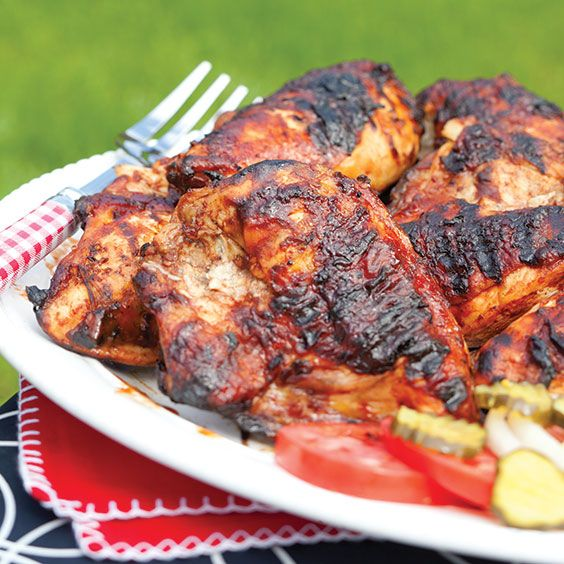 A rich marinating and basting sauce made with Dr Pepper creates this tasty grilled chicken dish.