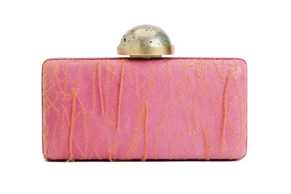 Stand out amongst the club masses with these trendy, cool clutches: Clutches Lady, Wearstlerembroid Clutches, Pink Clutches, Embroidered Clutches, Wearstler Embroidered, Fashion Accessories, Style Accessories, Clutches Bags, Kelly Wearstler