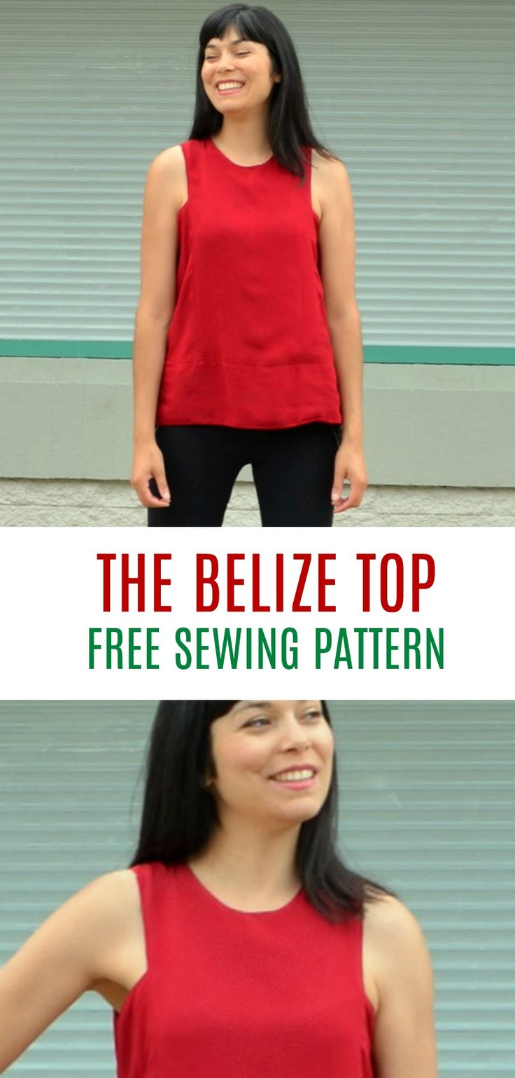FREE SEWING PATTERN: The Belize Top: Learn how to…