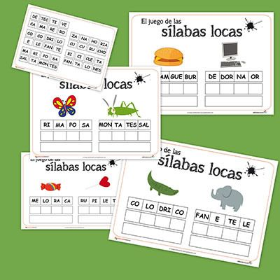 """Recursos para el aula: Las sílabas locas Os dejamos la segunda entrega de este fantático juego de """"Las sílabas locas"""", que tan buena acogida tuvo la semana pasada. Hoy os dejamos palabras con 4 síl..."""