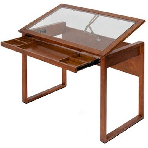 Studio Designs Ponderosa Glass Topped Drafting Table - Drafting & Drawing Tables at Hayneedle