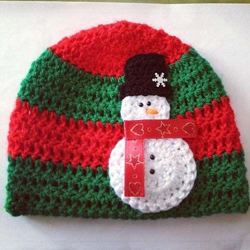Gorros navideños tejidos a crochet par niños01