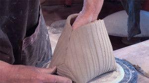 Gorgeous handbuilt pottery basket by Jan McKeachie-Johnston