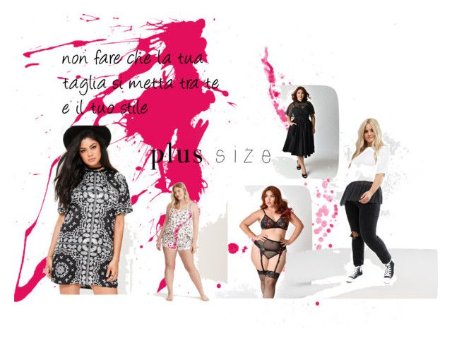 plus size by mariapizzuto on Polyvore featuring moda, Missguided, Torrid and plus size dresses