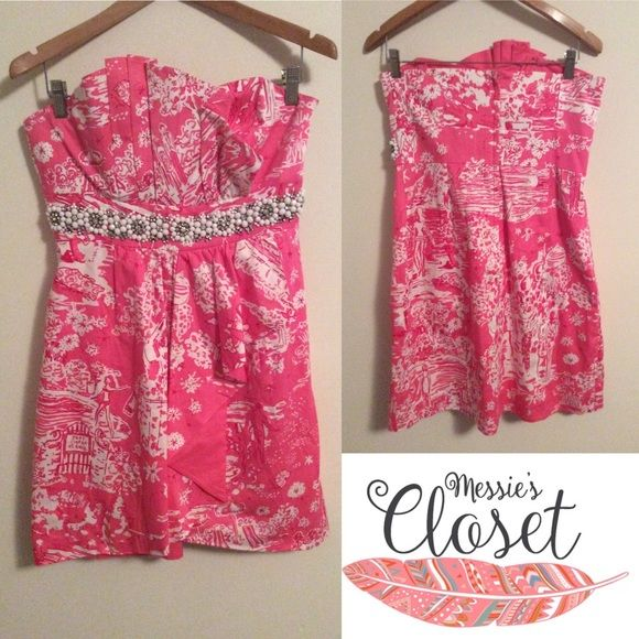 Lilly Pulitzer Skinny Dippin Crystal Dress Size 10 RARE! Crystal empire waist! Lilly Pulitzer Dresses