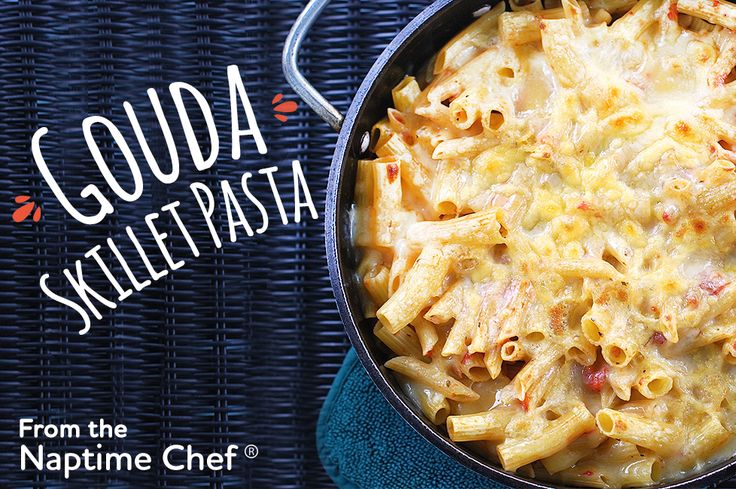 This skillet baked penne with tomatoes and Arla Dofino Gouda is a great easy weeknight meal on busy school nights.