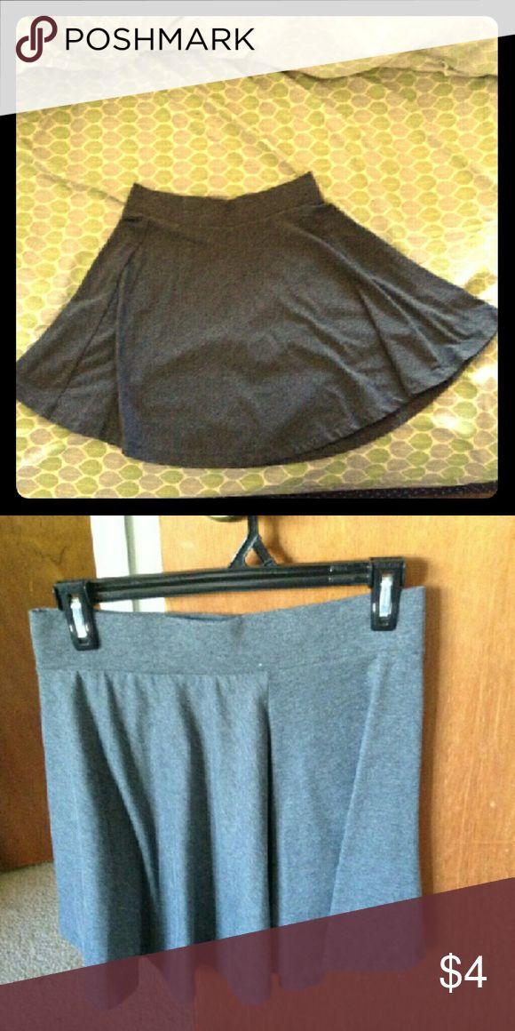 H&M Divided Basic Skater Skirt H&M divided dark gray skater skirt, never worn! Divided Skirts