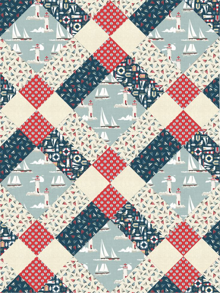 Mckenzie Clan pattern from Pattern Jam using Ahoy fabric - I love Pattern Jam! Só imagem