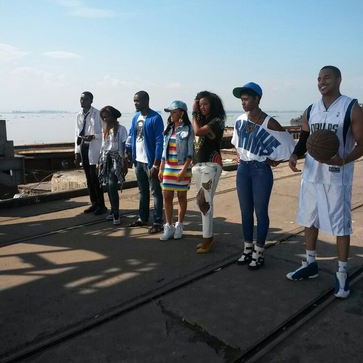 Styling model for Vodacom Congo video spot...In Congo RDC