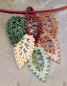 Bead weave leaves