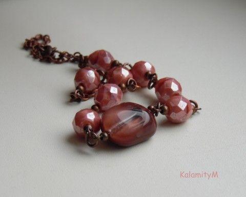 Rosa Coeli - náhrdelník náhrdelník dárek vintage ketlovaný starobylý skleněné korálky broušené korálky