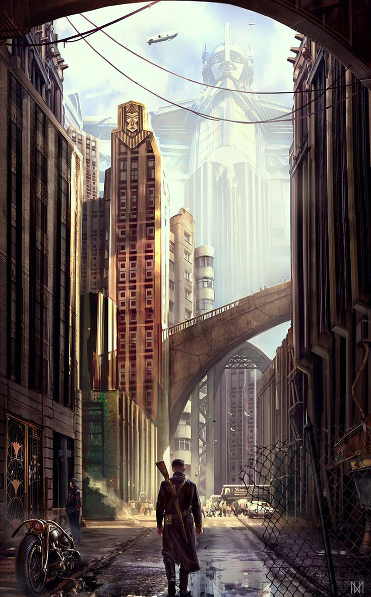 Dieselpunk City, Nagy Norbert on ArtStation at https://www.artstation.com/artwork/K2BAR