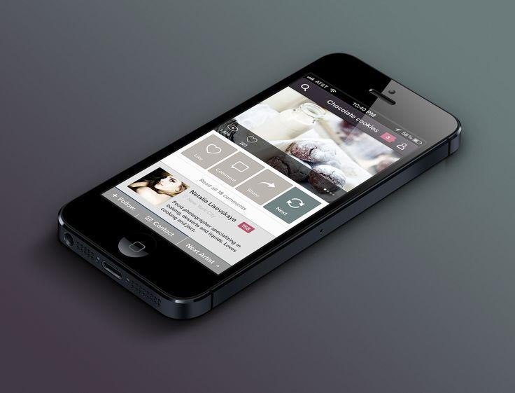Photography iPhone app by Julia Khusainova