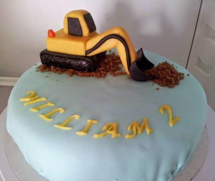Tårtor av Malin: tårta grävskopa grävmaskin