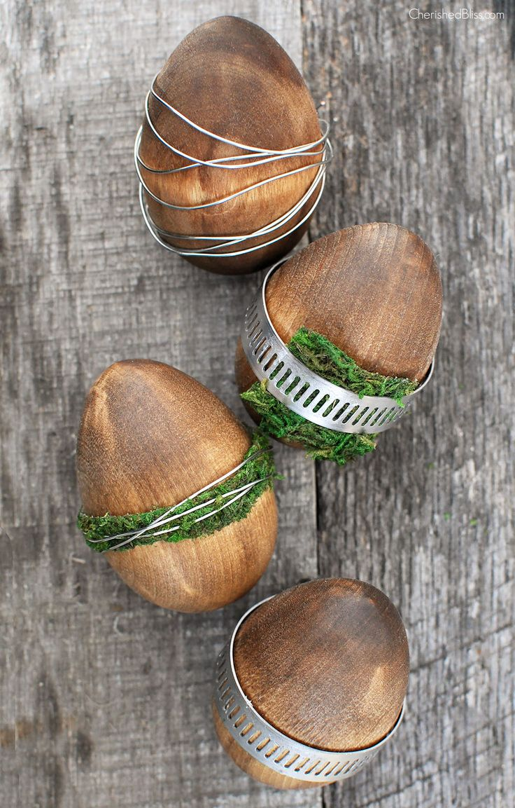 Getting ready for #Easter? These eggs bring in the perfect touch of rustic industrial!