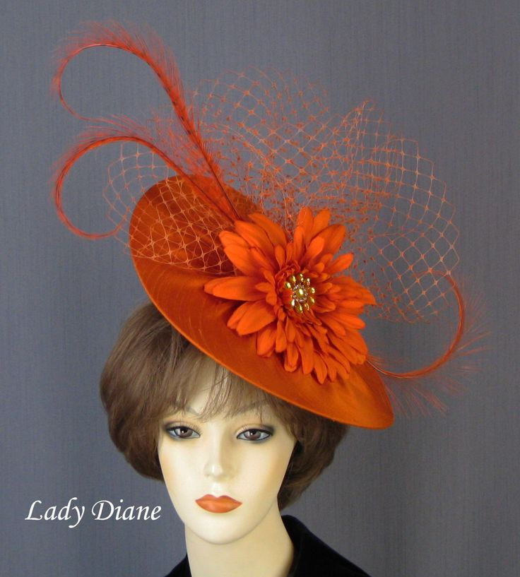 160 Best Fancy Hat Images On Pinterest Sombreros Hang Hats And Amazing Orange Fur Felt Fascinator