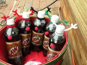 Root Beer Reindeer - Cute secret Santa gift idea