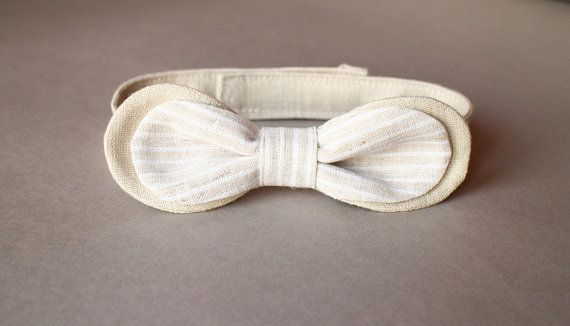 Boys bow tie Tan Natural by mimiikids, $14.00
